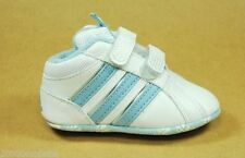 ADIDAS BABY LILADI CRIB WHITE BLUE PACK SHOES WITH VELCRO STRAPS STYLE G13985