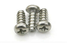 50pcs x 304 stainless steel Round Pan Head Self Tapping Pozi Screws M2