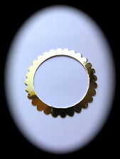 25 ROUND SCALLOPED edge FRAMES - GOLD or SILVER - Die-cut Toppers - Cardmaking