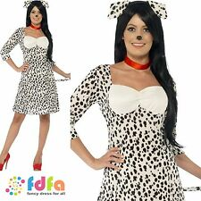 DALMATION DOG FEMALE ADULT ANIMAL - UK 8-18 - womens ladies fancy dress costume