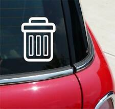 TRASH CAN OFFICE RECYCLE FUNNY GRAPHIC DECAL STICKER ART CAR WALL DECOR