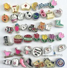 10pcs mixed Floating Charms living locket charm for your floating memory locket