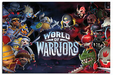 World Of Warriors Large Wall Poster New - Maxi Size 36 x 24 Inch