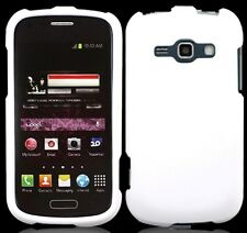 WHITE Snap-On Cover for Samsung Galaxy Ring / Prevail 2 II SPH-M840