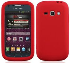 RED Silicone Skin Gel Case for Samsung Galaxy Ring / Prevail 2 II SPH-M840