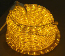 "LED AMBER 50'  ROPE LIGHT CHRISTMAS 120V 1/2""  SALE  NEW"