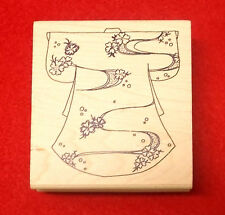 Judikins Asian Japanese rubber stamp Choices Big backgrounds Kimono coin mounted