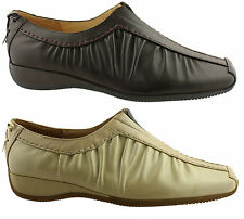DONNA VELENTA RENEE LADIES/WOMENS SOFT LEATHER SHOES/FLATS/CASUALS/COMFORT/WORK