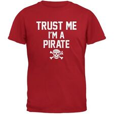 Trust Me Im A Pirate Red Adult T-Shirt