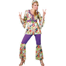Ladies Hippie Chick Costume for 60s Mods Rockers Hippy Fancy Dress Womens