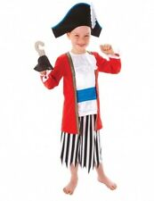 Childrens Boys CAPTAIN PIRATE Costume for Sailor Fancy Dress