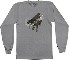 Threadrock Kids Piano Youth L/S T-shirt Musical Instrument Pianist Player
