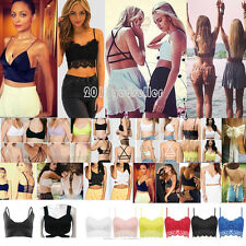 Womens Padded Bra Strappy Tank Tops Sports Bralet Bustier Sexy Sling Crop Blouse