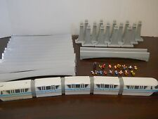 Walt Disney World Park monorail playset blue train toy figures characters mickey