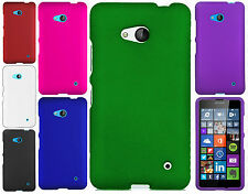 For T-Mobile Nokia Lumia 640 Rubberized HARD Protector Case Snap On Phone Cover