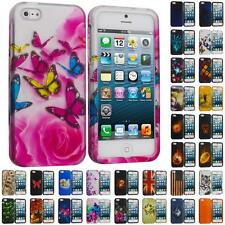 For iPhone 5S 5 5G Hard Snap-On Design Rubberized Case Cover Skin Accessory