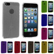 Color Fingerprint Circle TPU Rubber Jelly Skin Case Cover for iPhone 5 5G 5S