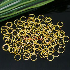 Gold Plated Metal Jump Rings Open Connectors DIY Jewelry Making Finding 4-14mm