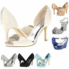 New RSVP Womens Bridal Wedding Bridesmaid Formal Prom Satin High Heels Shoes