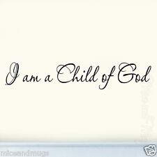 I Am a Child of God Nursery Wall Quote Vinyl Decal Wall Art Baby's Room Letters