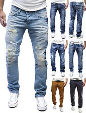 MERISH Herren AMICA Jeanshose Chino Destroyed Blue Jeans Hose Pants Clubwear MIX