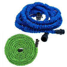 25 50 75 100 FT Expand Expanding Flexible Garden Lawn Water Hose Nozzle