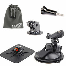 EEEKit for Action Sports Cameras Windshield Dashboard Suction Cup/Tripod Mount