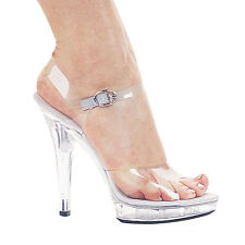 "5"" fitness competition bikini contest 5 inch heel clear shoes SIZE 5 6 7 8 9 10"