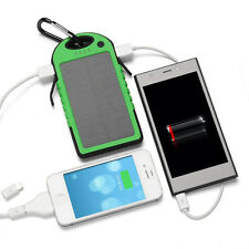 Waterproof Portable Solar Charger Dual USB External Battery Power Bank for Phone