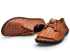New Mens casual genuine leather hollow out Moccasins driving sandal shoes