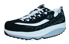 Skechers Shape Ups Strength Wide Womens Fitness Trainers / Shoes - Black 11809