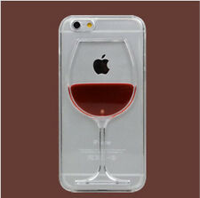 Cute Fun Red Wine Glass Liquid Fun Novelty Mobile Protector Case Cover IPhone