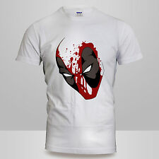 Unisex 100% Cotton Mens or Womens Deadpool SPATTER Marvel Comic T-Shirt DC Tee