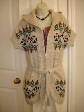 Aeropostale Juniors's Cardigan Hooded Short Sleeve Sweater. Size: XS/TP, M