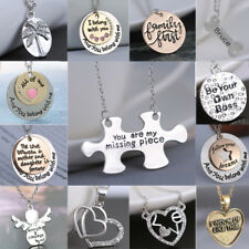 lovers letter Family Love Necklace Heart Pendant Mother Silver/Gold Jewelry Gift