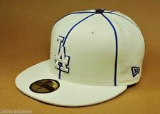 NEW ERA CAP 59FIFTY MLB 5950 LOS ANGELES DODGERS PIPING OFF WHITE BASEBALL HAT