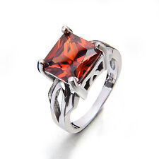 925 sterling silver Vintage style ruby gemstone Engagement ring Size7/8/9