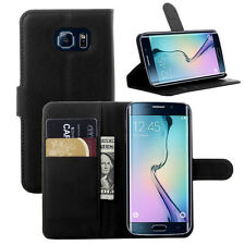 Black Wallet Card Skin Magnetic Flip Soft Leather Case Stand Cover For Samsung