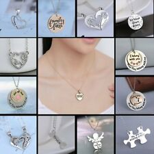 Personalized Angel Love Letters Pendant Friends Family Necklace Chain Jewelry