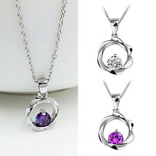 Crystal Rhinestone Jewelry Women's Clavicle Chain Necklace Pendant Lucky Jewelry