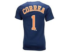 Houston Astros Carlos Correa Blue Name and Number T-Shirt