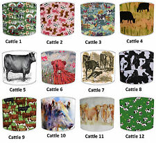 Lampshades Ideal To Match Highland Cattle Cow Wallpaper Cow Duvets Cow Cushions