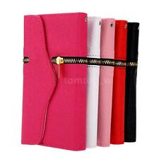 Zipper PU Leather Wallet Flip Case Cover Card Holder for Samsung Galaxy S6 Edge