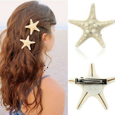 Europe Women Pretty Hair Clip Girls Natural Starfish Star Beige Hair Accessories