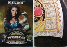 """WWE 2010 WORLD CHAMPIONSHIP MATERIAL """" Puzzle Back """" CARD SIngles  Topps"""
