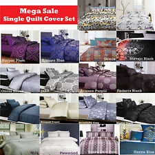 2 Pce SINGLE Quilt Doona Cover + Std Pillowcase CLEARANCE MEGA SALE Limited Time