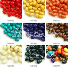 30g Approx 600Pcs Rice Wood Spacer Beads 6x4mm Wooden Fit Bracelet HCWB58-64