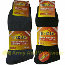 Thermal 3 Pairs Pack Mens/Ladies Brushed Thick Warm Outdoor Winter Boot Socks