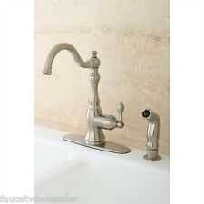 Kingston Brass Vintage Kitchen Faucet Single Handle Brushed Nickel GS7708ACLSP