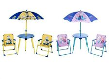 Kids Garden Table and Chairs Set Parasol Folding Children Patio Furniture New 3+